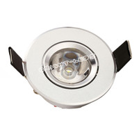 Wholesale 3w Power Led Driver - 4pcs lot led downlight 1W 3W mini high power Recessed Led Downlight AC85v- 260v 110-330LM with LED Driver