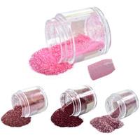 ingrosso colori del chiodo della bottiglia-Art Glitter 1 Bottiglia 10g Rosa / Rosa / Colori rossi Nuovi disegni per unghie 3d Shinning Sequin Dust Gem Nail Art Glitter in polvere