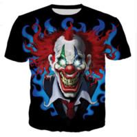 ingrosso mens del maglione del joker-All'ingrosso-Newest Fashion Mens / Womens Summer Style Clown La maschera Joker Funny 3D Print T-shirt casual DXR00243