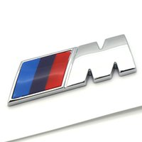 Wholesale Power Performance Cars - Car styling ABS Car M Power Performance Badge Fender Emblem Sticker M sticker for BMW E46 E52 E53 E60 E90 E93 F30 F20 M3 M5 M6