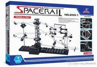 Wholesale Railings Steel - Space Rail Model Building Kit Level 2 Steel Marble Roller Coaster SpaceWarp DIY Spacerail Erector Set 233-1 233-2 Toys for Kids