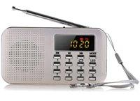 haut-parleur portable de batterie de lecteur mp3 achat en gros de-2018 Nouveau Portable Mini LCD Stéréo LCD Numérique Radio FM Haut-Parleur USB TF Carte Lecteur de musique Mp3 avec lumière LED et batterie rechargeable