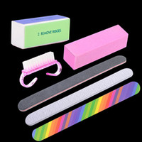 Wholesale nail art kit online - ool registration Belen Professional Manicure Tools Kit Rectangular Nail Files Brush Durable Buffing Grit Sand Nail Art Accessories Stylin