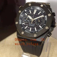Wholesale miyota quartz - Mens luxury Submarine Jh N8 factory Miyota with smooth sweeping flyback chronograph 316L stainless steel case Stopwatch blackRubber Watches