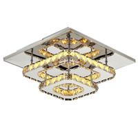 Wholesale led plafond - modern crystal led ceiling lights bedroom living room plafond lamp kristal design light fixtures Lustre Luminarias