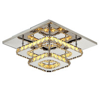 современный потолочный светильник оптовых-современный Кристалл светодиодные потолочные светильники для спальни гостиной плафон лампы Кристалл дизайн светильники блеск Luminarias