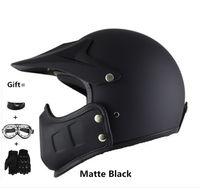 casco gözlükleri toptan satış-Motosiklet Kaskları Entegre Maske Gözlük Şeytan Grafik es Kasko Açık Yüz Helemt Dış Bisiklet Tırmanışı Için