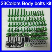 kits de cuerpo yamaha r1 al por mayor-Kit completo de tornillos de carenado Para YAMAHA YZFR1 04 05 06 YZF R1 YZF 1000 YZF1000 YZF-R1 2004 2005 2006 Tuercas de cuerpo tornillos tuercas kit de tornillos 25 colores