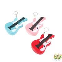 ingrosso fascino br-Simulazione PU Foam Phone Charm antistress forma chitarra Squishies con portachiavi in metallo Squishy Three Colors 7 5hz BR