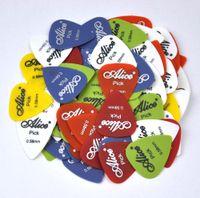 guitarras acústicas de nylon venda por atacado-100pcs 0.58mm alice matte nylon guitarra palhetas plectrums para violão f