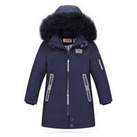 cd3410faba8 -30 Degree High Quality New Boy s Long Down Jackets For Youth Children big  Boy clothing Winter Parka real Fur Coat Kids Clothes