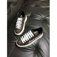 kadınlar için kahverengi düz çizmeler toptan satış-2019 KADIN BROWN EMBOSS LOGO FLAT LOAFER TENİS AYAKKABI AYAKKABI Bayan Ayakkabı Pompaları Loafer'lar Balerin Daireleri Espadrilles Takozlar Spor Botları