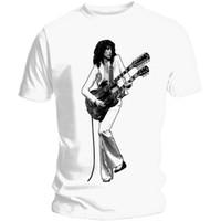 yeni moda tişört resimleri toptan satış-Jimmy Page Kentsel Görüntü Gömlek M L XL Resmi T-Shirt Tshirt 2018 yaz yeni erkekler pamuk Kısa kollu T-shirt Marka üstleri Moda rahat O Boyun