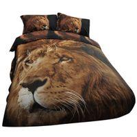 3d bedding set al por mayor-3D Animal Funda Nórdica Lion Impresión Fotográfica Edredón Edredón Cubierta Ropa de Cama Set Fundas de Almohada 200 x230 cm Luxury Quilt Covers