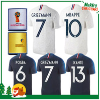 Wholesale National Teams - 2018 World Cup france pogba soccer Jersey home BLUE 18 19 PAYET DEMBELE MBAPPE GRIEZMANN KANTE national team football shirts COMAN AWAY whi