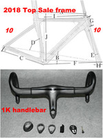 Wholesale 1k carbon road frame - 80 New Colors Carbon Road Frame Carbon Bike Frame 3K 1K 44cm to 59.5cm Avaliable