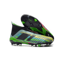 Wholesale New Boots For Men - 2018 New Predator 18+ 18.1 FG Soccer Cleats Football Boots Chaussures Mens Designer Sports Running Shoes for Men Sneakers CasualTrainers