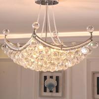 Wholesale cristal ceiling led - Modern Luxury Crystal Chandelier Lighting Fixture Crystal Pendant Light Lustres de cristal for Living Room Bedroom Ceiling Lamp