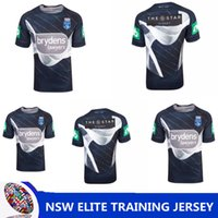 Wholesale national lights - NSW STATE OF ORIGIN 2018 ELITE TRAINING TEE LIGHT BLUE NRL National Rugby League Queensland Maroons Rugby Rugby jersey size S-XXXL