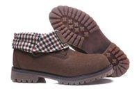 botas de caminhadas marrons homens venda por atacado-2018 novas Botas clássicas homens de lapela marrom confortável corrida de esportes calça as sapatilhas Casual trabalho caminhadas inverno moda sapatos tamanho 40-45