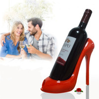Wholesale red rack wine - High Heel Shoes Wine Bottle Holder Red Wines Rack Wedding Gift Table Ornaments Multi Color 22 9yh Z RW