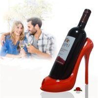 Wholesale Red Rack Wine - High Heel Shoes Wine Bottle Holder Red Wines Rack Wedding Gift Multi Color 22 9yh Z R