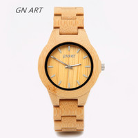 Wholesale custom logo watches for sale - 2018 OEM Custom Logo Waterproof Wooden Face Watch Band Men s and Women Best Gifts Bamboo Wrist Watches