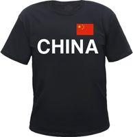 китайский народ оптовых-Китайская мужская футболка - Надпись с надписью и флагом - Народная Республика Китай Азия 100% хлопок, новые футболки
