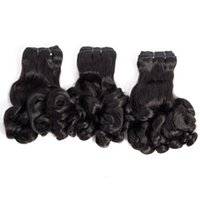 Wholesale funmi curl weave hair for sale - Group buy Brazilian Malaysian Indian Peruvian Funmi Hair inch Rose Curl Spring Curl Magical Hair extensions g piece Remy Virgin Human Hair