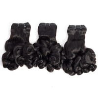 malezya funmi saç toptan satış-Brezilyalı Malezya Hint Perulu Funmi Saç 10-20 inç Gül Curl Bahar Curl Büyülü Saç uzantıları 80 g / adet Remy Bakire Insan Saçı