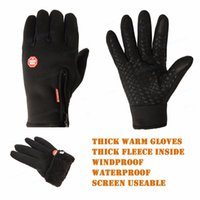 Wholesale cell resistance - THICK Gloves Windproof Tactical Gloves 3 Layers Cold proof Materials Screen Use Cell Palm Slip-Resistance Army Winter