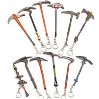 Wholesale zinc toy figures for sale - 12 styles Fortnite Pickaxe Action Figure Toy Anarchy Axe Reaper Pickaxe Fortnite Keyring Keychain Zinc Alloy