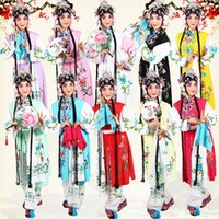 Wholesale white embroidered scarf resale online - Opera Outfit Jacket Pants Waist coat Waist scarf Girl servant Peking opera stage costume lady flower embroidered long suits