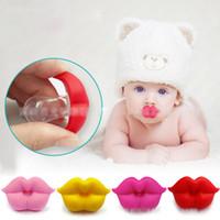 bebek yumuşak silikon toptan satış-Yenidoğan komik Büyük kırmızı dudaklar Emzikler Silikon bebek Emzikler 5 renkler bebek Yatıştırıcı Nipeller C4493