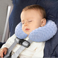 Wholesale Polyester Filled Pillows - Kids Neck Pillow Baby Car Inflatable Pillows Infant Cartoon U Shape Pillows Travel Air-filled Pillow Stroller Pram Nap Pillow Unpick B3703