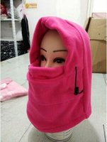 Wholesale boys thermal hat for sale - Group buy Outdoor Camping Winter Black Thermal Hood Skiing Riding Cycling Motorcycle Windproof Full Face Neck Mask Hat Cover Travel Kits