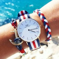 Wholesale Hour Glasses - WD01 Top Brand Luxurt Men's watches New Fashion Women Watch 2018 Ladies Watches Nylon High Quality WD Brand Clock Hour