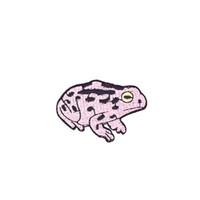 klebstoffflecken groihandel-10 STÜCKE Diy Frosch Streifen Gestickt Cartoon Patches für Mantel Patch für Streifen Nähen Heißkleber Kleidung Tier Zubehör Patches