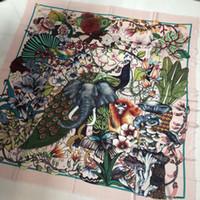 ingrosso pashminas animali da stampa-Luxury Women 100% Cashmere Square Scialle Italia G Animal Print Joker Pashmina Donna Scialli Big Size 140 * 140 cm Dropshipping