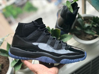 Wholesale Prom Shoes Size 11 - New arrival 11 Prom Night Blackout 11s Men Basketball Shoes Sneakers black mens women sports shoes trainers athletic shoe 2018 size 41-47