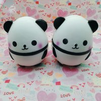 Wholesale Gift Box For Ornament - Simulation Panda Eggs Squishy Soft Scented Squeeze Phone Pendant White Black Lovely PU Squishies For Children Killing Time 25hb B