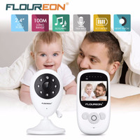 Wholesale Video Color Temperature - Stock Clearance! 2.4G Wireless Video Baby Monitor Night Vision Two-way Talk 2.4 inch LCD Display Temperature Monitoring Nanny