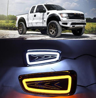 ingrosso luci fendinebbia-2Pcs For Ford Raptor F150 2009 2010 2011 2012 2013 2014 DRL Luce di marcia diurna Fendinebbia