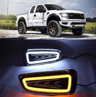 ford drl toptan satış-Ford Raptor F150 2009 2010 2011 2012 2013 2014 DRL Gündüz ışık Sis Lambası kapağı sürüş lambası için 2adet