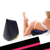 Wholesale massaging beds resale online - Home Garden Hacker Magic Family Bedroom Bedding Triangle Pillow High end Erotic Husband Pillow Adult Products Passion Pillow