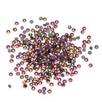 nagelkunst dekoration glitzer stein großhandel-2mm Nail Art Flame Regenbogen Strass 3D Glitter flach zurück Kristallglas Steine Dekoration Zubehör