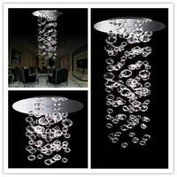 kabarcık kristal askılı aydınlatma toptan satış-Kabarcık Topu Sarkıt Murano Due Kabarcık Cam Avize Süspansiyon 4 ADET GU10 Işık Özel Boyut Şeffaf modern kristal tavan ışık