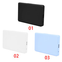 Wholesale plastic box enclosure case for sale - 3 color quot USB SATA HD Box HDD Hard Drive External Enclosure Case Support Up to TB Data transfer backup tool For PC