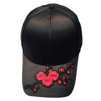 Wholesale Chapeau Femme - Baseball Cap Women Men Couple Applique Floral Baseball Cap Unisex Snapbacks fashion Flat Hat Gorras Mujer Chapeau Femme#5