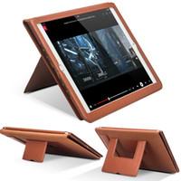 usine pour ipad achat en gros de-Usine Promotion L S 353025 luxe en cuir smart stand couvercle rabattable pour iPad pro 12.9inch fonction de réveil automatique sommeil dragonne
